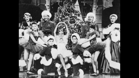 """The cast performs the song """"White Christmas"""" during the final scene in the film."""