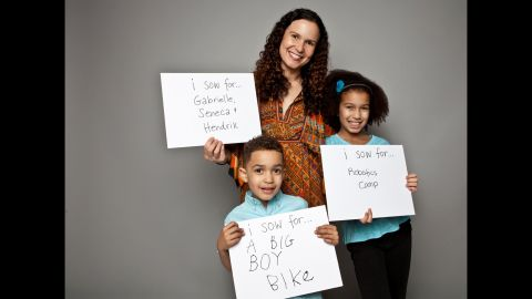 Tanya Van Court, the chief executive officer of Sow, and her children, Gabrielle and Hendrix