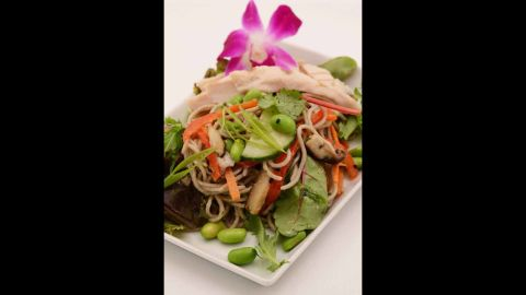 A recent survey found that airlines have a long way to go in making their meals and snacks nutritious and low in calories. <br /><br />Coming in first, none of Virgin America's meals is high in calories. The average number is 408 calories. In addition to being low in calories, the Ginger Chicken Soba Noodles and Provencal Tuna Sandwich are high in protein. Click through our gallery to see how other airlines ranked.