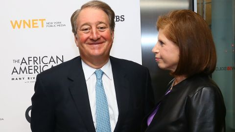 Since retiring from top-level golf, Nicklaus has focused on commercial interests with business partner Howard Milstein (pictured with his wife Abby).