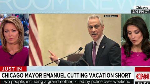 chicago mayor rahm emanuel cuts vacation short police shooting flores sot nr_00003805.jpg