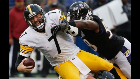 """Though """"Big Ben"""" (#7) has flirted with the idea of retirement, the two-time Super Bowl champion shows no sign of slowing down. Shaking off some niggling injuries, Ben Roethlisberger had an excellent 2016 campaign, earning his fifth Pro Bowl selection before taking his Steelers to the AFC Conference Finals."""