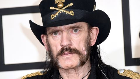 Lemmy wearing his signature hat at the Grammy Awards in  early 2015.