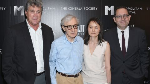"""Director Woody Allen, second from left, has given us classics such as """"Annie Hall"""" and """"Midnight in Paris."""" In collective box office, his movies have made $578 million."""