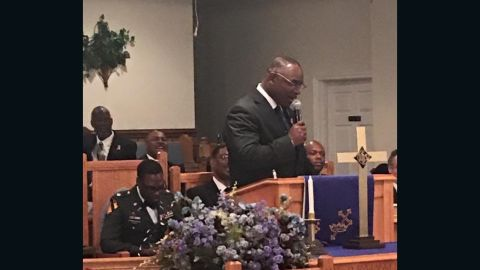 Larry Wright preaches at Heal the Land Outreach Ministries.