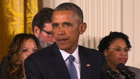 Recording clean translation of President Obama's gun control statement.