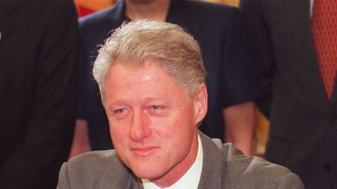 Bill Clinton in the Oval Office