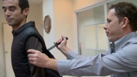 Reporter stabbing Israel demonstration pkg_00015217.jpg