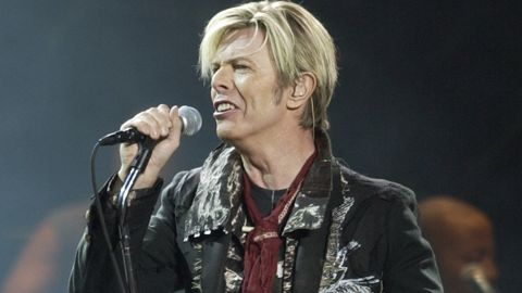 """David Bowie launches his United States leg of his worldwide tour called """"A Reality Tour,"""" at Madison Square Garden in New York in 2003."""