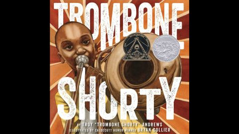 """<strong>Coretta Scott King (Illustrator) Book Award:</strong> """"Trombone Shorty,"""" illustrated by Bryan Collier and written by Troy Andrews and Bill Taylor."""