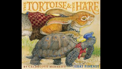"""<strong>Coretta Scott King - Virginia Hamilton Award for Lifetime Achievement:</strong> Jerry Pinkney. His book """"The Tortoise & the Hare"""" is shown here."""