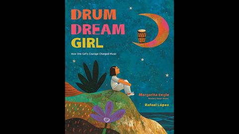 """<strong>Pura Belpré (Illustrator) Award </strong>honoring a Latino writer and illustrator whose children's books best portray, affirm and celebrate the Latino cultural experience: """"The Drum Dream Girl,"""" illustrated by Rafael López and written by Margarita Engle."""