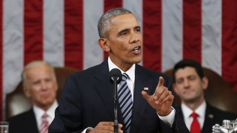 President Barack Obama delivers his State of the Union address to a joint session of Congress on Capitol Hill in Washington, Tuesday, Jan. 12, 2016. (AP Photo/Evan Vucci)