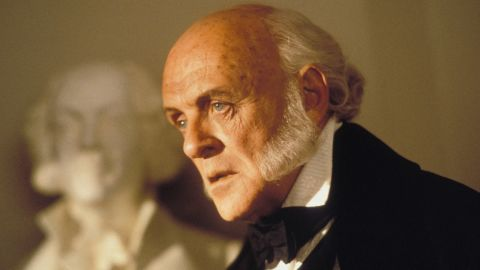 """Anthony Hopkins plays John Quincy Adams in 1997's """"Amistad,"""" directed by Steven Spielberg. Hopkins' portrayal earned him an Academy Award nomination for best actor in a supporting role. The actor also played Richard M. Nixon in 1995's """"Nixon."""""""