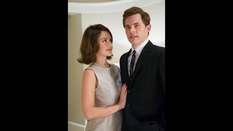 """James Marsden plays John F. Kennedy in """"The Butler"""" alongside Minka Kelly as Jacqueline Kennedy."""