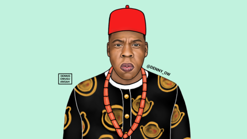 """With over 12,000 Instagram followers, Owusu-Ansah has a successful Instagram page where he has created Jay Z and called him Chief Shawn """"Ugonna"""" Jay Z Carter."""