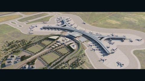 """Jomo Kenyatta International -- Kenya's premier airport -- is to receive multiple upgrades. <br /><br />A new greenfield terminal designed by architects <a href=""""http://www.pascalls.co.uk/projects/aviation/jomo-kenyatta-international-airport-greenfield-terminal/"""" target=""""_blank"""" target=""""_blank"""">Pascall + Watson</a> will be the largest in Africa when it opens in 2017, serving 20 million passengers a year, at a cost of around $650 million. <br /><br />A second runway will be inaugurated the same year."""