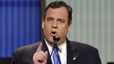 """Christie, like most of the candidates on stage, continued to be tough on the current administration. """"Tuesday night, I watched story time with Barack Obama,"""" he said of the recent State of the Union address. Christie also said """"you cannot give Hillary Clinton a third term of Barack Obama's leadership. I will not do that. If I'm the nominee, she won't get within 10 miles of the White House."""""""