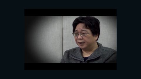 Hong Kong-based bookseller Gui Minhai appears on Chinese state television in 2016.