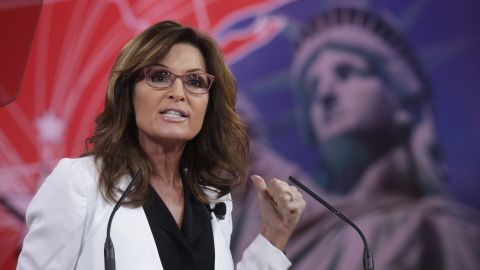 Sarah Palin speaks at the annual Conservative Political Action Conference at National Harbor, Maryland, on February 26, 2015.