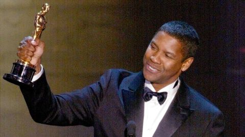 """Denzel Washington became the first African-American to win two Oscars in the acting categories when he won best actor in 2002 for """"Training Day."""""""