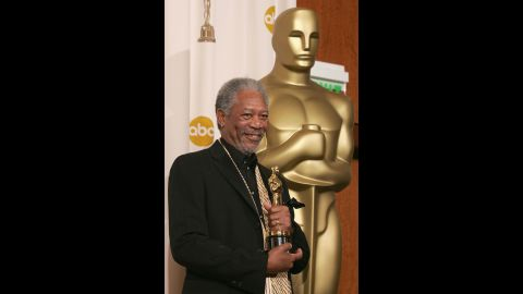 """Morgan Freeman picked up the Oscar for best supporting actor for his role in """"Million Dollar Baby"""" in 2005."""