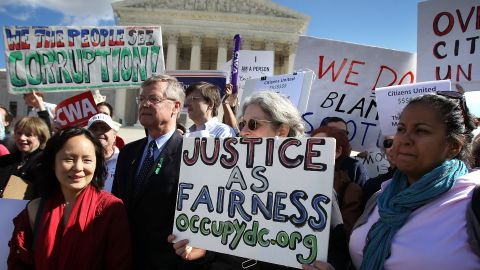The Supreme Court's Citizens United ruling drew protests, but author Adam Winkler says it was the result of a centuries-long  battle to award corporations rights normally conferred to people.