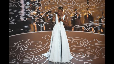 """Lupita Nyong'o won the best supporting actress Oscar in 2014 for her role in """"12 Years a Slave."""""""