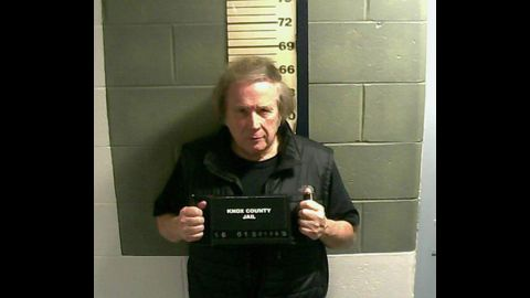"""Singer Don McLean appears in a booking photo after being charged with domestic violence assault on Monday, January 18, at Knox County Jail in Rockland, Maine. McLean is best known for his 1972 hit """"American Pie."""""""