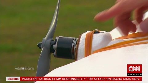 Changes in air pressure during flight and the shaking of the drone in the wind and during takeoff and landing were all concerns, but it worked. The blood samples were completely unaffected by turbulence or changes in air pressure.