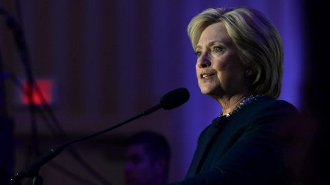 Democratic Presidential candidate Hillary Clinton speaks at the NARAL Pro-Choice NH Roe v. Wade Dinner at the Grappone Conference Center January 22, 2016 in Concord, New Hampshire.