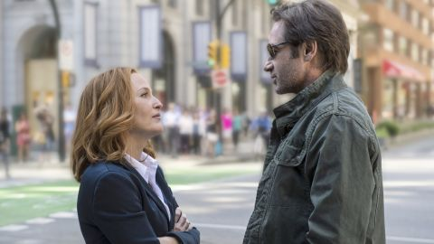 """Gillian Anderson stars as Dana Scully and David Duchovny as Fox Mulder in """"The X-Files."""""""