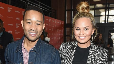 """Musician John Legend and model Chrissy Teigen attend the premiere of """"Southside With You,"""" a re-imagining of Barack and Michelle Obama's first date in Chicago in 1989."""