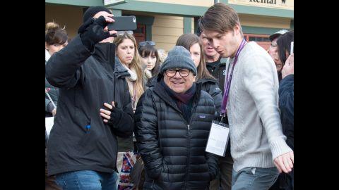 "Veteran actor Danny DeVito was spotted at the festival last Saturday. DeVito appears in ""Wiener-Dog,"" the new dark Sundance comedy by writer-director Todd Solondz."