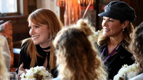 """Actress Bryce Dallas Howard (""""Jurassic World""""), left, and producer Maria Cuomo Cole attend Glamour's Women Rewriting Hollywood Lunch on Tuesday in Park City. The event was co-hosted by """"Girls"""" creator Lena Dunham."""