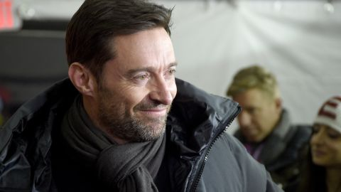 """Actor Hugh Jackman attends a Sundance screening of """"Eddie the Eagle"""" Tuesday. Jackman plays a coach in the film, based on the true story of a British Olympic ski jumper who became an unlikely cult hero."""