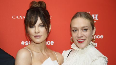 """Actresses Kate Beckinsale, left, and Chloe Sevigny at the Sundance premiere of """"Love & Friendship,"""" Whit Stillman's adaptation of an unpublished Jane Austen manuscript. The actresses co-starred almost two decades ago in Stillman's """"The Last Days of Disco."""""""