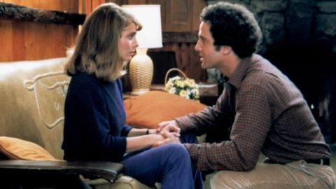 """In """"Modern Romance,"""" Albert Brooks plays a man prone to neurotically overthinking whether his girlfriend, Kathryn Harrold, is """"the one."""""""