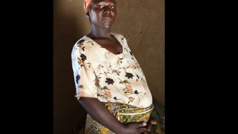 Hazel Shandumba, 27, is from Zambia. There is no running water in the maternity ward where she planned to give birth.
