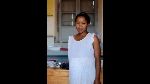 Razafindrabary Claudine, 26, was photographed in Madagascar. She said there's running water near her home in her village, so she doesn't have to walk far to fetch water.