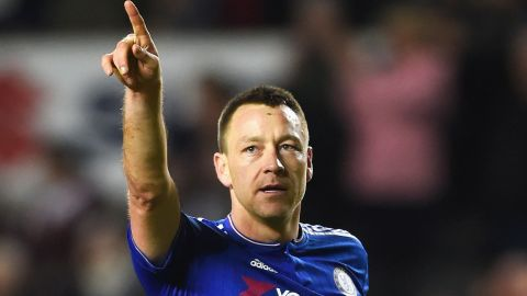 MILTON KEYNES, ENGLAND - JANUARY 31: John Terry of Chelsea celebrates victory after the Emirates FA Cup Fourth Round match between Milton Keynes Dons and Chelsea at Stadium mk on January 31, 2016 in Milton Keynes, England.  (Photo by Mike Hewitt/Getty Images)