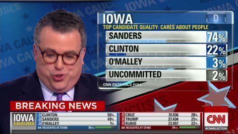 iowa caucuses hillary clinton bernie sanders entrance polls chalian ac_00001726.jpg