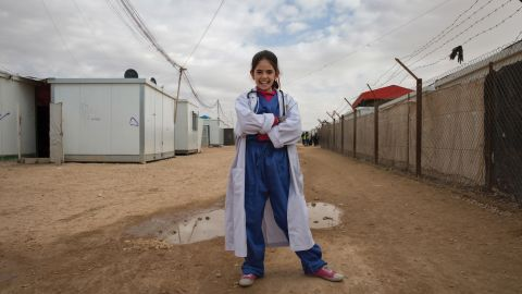 """Photographer Meredith Hutchison of the International Rescue Committee asked Syrian girls who are refugees in Jordan what they want to be when they grow up. Here's what they said and how they picture themselves in the future.<br /><br /><strong>Rama, 13. Future job: Doctor</strong> -- """"Walking down the street as a young girl in Syria or Jordan, I encountered many people suffering -- sick or injured -- and I always wanted to have the power and skills to help them. Now as a great physician in my community, I have that ability. Easing someone's pain is the most rewarding aspect of my job.""""<br />"""