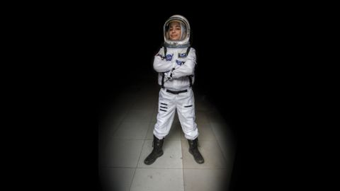 """""""Ever since we studied the solar system in primary school, I have wanted to be an astronaut. I would imagine myself up in the sky discovering new things. In this society my path was not easy -- many people told me a girl can't become an astronaut. Now I have achieved my goals. I would tell young girls with aspirations not to be afraid."""""""