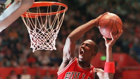 """<strong>Michael Jordan (1987):</strong> Jordan was injured in 1986, but he returned one year later to take home the crown and show everyone why he was nicknamed """"Air Jordan."""" He capped his performance with a jump from the free-throw line, a dunk made famous years earlier by Dr. J. This time, it was Wilkins who was out because of injury. But the two would meet again in 1988 ..."""