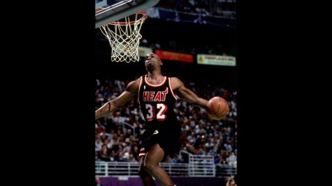 """<strong>Harold Miner (1993):</strong> The 6-foot-5 rookie was nicknamed """"Baby Jordan,"""" but his powerful dunks might have been more reminiscent of Dominique. He rocked the rim with a vicious tomahawk and a double-pump reverse on his way to the title."""
