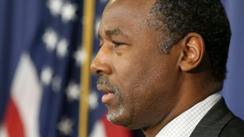WASHINGTON, DC - FEBRUARY 03:  Republican Presidential candidate Dr. Ben Carson speaks to the media at the National Press Club February 3, 2016 in Washington, DC.  (Photo by Mark Wilson/Getty Images)