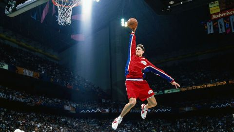 <strong>Brent Barry (1996):</strong> Barry took off from the free-throw lane -- twice -- as he edged Michael Finley in the finals. Barry is the son of Hall of Famer Rick Barry, and two of his brothers also played in the NBA.