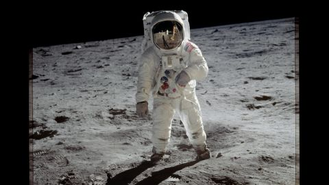 Aldrin was lunar module pilot and the second man to walk on the moon. On each lunar landing mission, one crew member stayed in orbit in the command module. On this mission that was Collins.