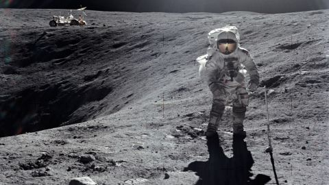 Duke collects lunar samples.